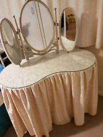 Kidney shaped dressing table.£40