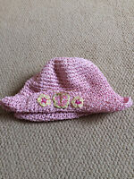 Pink straw hat, 2-4 years