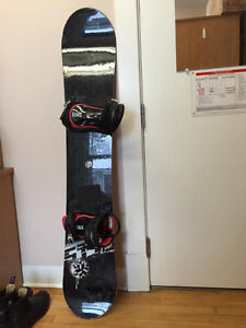 Snowboard with Bindings (size 11) ($100)
