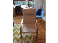 Cream Ikea pöang chair