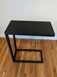 Crate and Barrel matte black C table