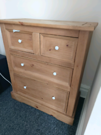 Solid mexican oak chest of drawers for sale