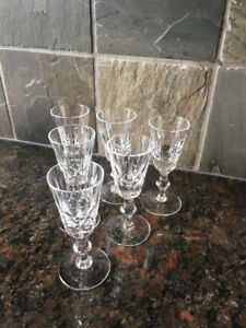 Set of 6 Edinburgh ED19 Cut Crystal Cordial Glasses