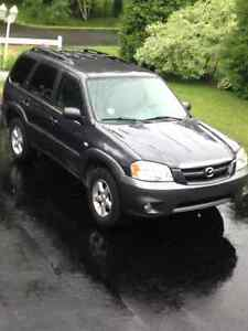 2005 Mazda Tribute Blue SUV, Crossover