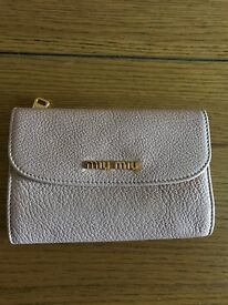Genuine Miu Miu leather purse