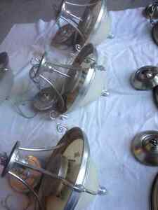 brushed pewter / brushed nickel light fixtures and chandeliers Kitchener / Waterloo Kitchener Area image 4