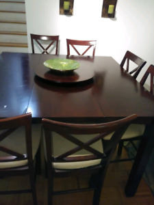 Dining table and 6 dining chair