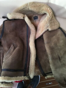 Military sheepskin flying coat