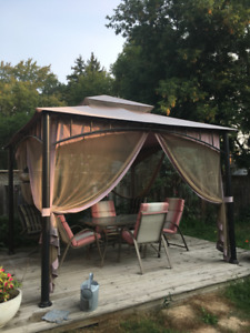 Pristine 10x10 Gazebo with curtains for sale