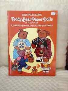 Teddy Bear Family Paper Dolls/Cutouts circa 1983 London Ontario image 1