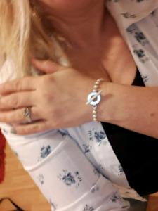 Bracelet gucci en argent authentique