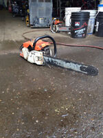 Used chainsaw, for parts only