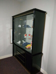 Black Book Case with Shelves and Drawers
