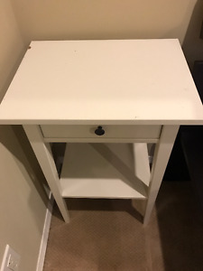 Set of two Ikea White End table for bedroom or living room