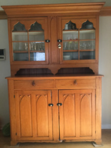 CIRCA 1870 -  Early Canadian Pine Dining Room Cupboard