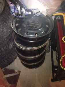 4 rims 5 bolt pattern  Peterborough Peterborough Area image 1