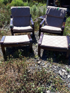 For Sale 2 IKEA chairs with Ottomans