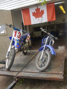 2 bikes and trailer