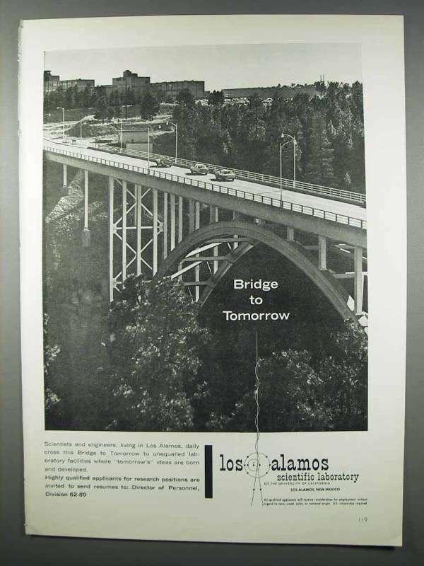 1962 Los Alamos Scientific Laboratory Ad - Tomorrow
