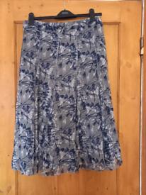 Womens Grey/Navy Skirt
