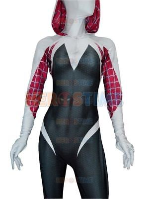 Lady Venom Spider Gwen Stacy Spiderman Halloween Cosplay Hooded Costume Cool