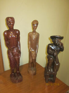 Hand Carved Wooden Figures From Cuba