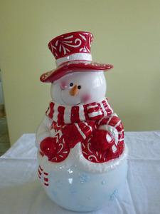 Pot à biscuits Bonhomme de neige