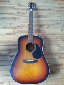 sigma dm-3s guitar and hard shell case wall mount