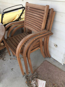 Outdoor Patio Table with 6 Chairs
