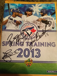 JOSE BAUTISTA AUTOGRAPH SPRING TRAINING GUIDE