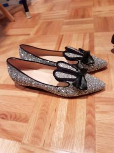 Cute glitter bunny ears shoes