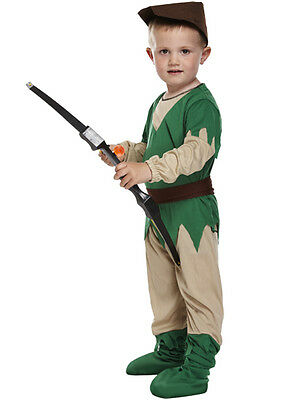 BOYS ROBIN HOOD TODDLER FANCY DRESS MEDIEVAL WORLD BOOK DAY WEEK COSTUME 2-4 YRS - Robin Hood Toddler Costume