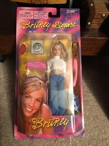 2000 Britney Spears mini white top doll MOC