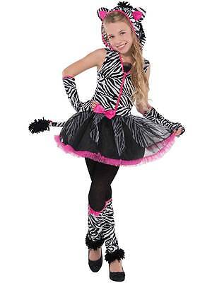 Teen Girls Sassy Stripes Zebra Fancy Dress Animal Halloween Costume Age - Teen Zebra Kostüm