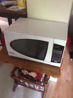 White Microwave, Cleaned and Ready