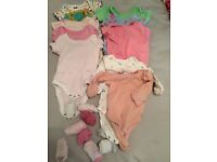 3-6mths baby girl bundle clothes