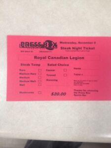 Steak Night Fundraiser- Royal Canadian Legion