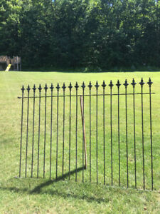 6 ' high Iron fence 7' wide