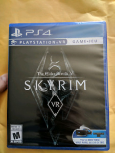 Sealed copy of Skyrim VR for PS4