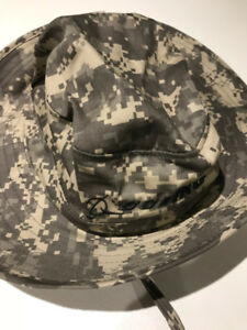 --TWO ARMY CAMO HATS NEW.OBO.