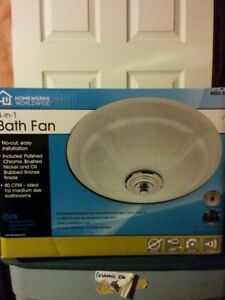 Bathroom Exhaust Fan 43.2-Watt Recessed Mount with LED light