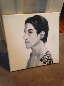 Anthony Kiedis Chili Peppers canvas painting