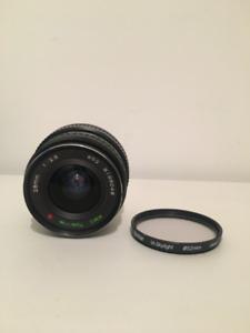Kit Lentilles Canon FD Argentiques 28mm + 80-200 + 28-105