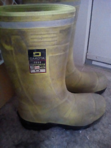 Dakota high vis full composite rubber/work boots