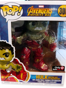 hulk busting out of hulkbuster EB games exclusive funko pop