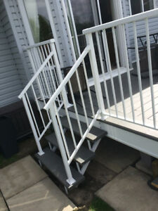 Selling $38/F Welded aluminum RAILINGS power coated. Supply and