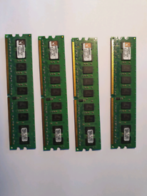 16GB RAM 2x KTS5277K2/4G Kingston 4GB Kit (2 X 2GB) PC2-5300 DDR2-667M