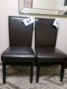 brand new chaise  Hudson 2 person style dining chairs