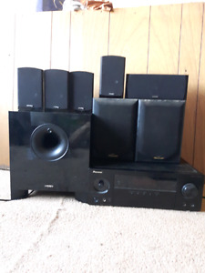 Pioneer av receiver and energy speakers