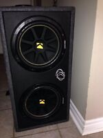 "2 12"" kicker subs and amp"